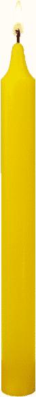 Bougie couleur jaune vif le bonheur par bougie vip