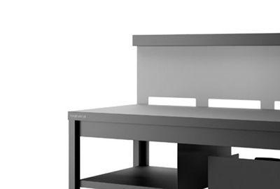 support plancha forge adour trcang roulante credence acier noir gris
