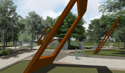 Adam Kuby's concept rendering for public art in Civic Area