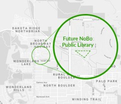 Location of future NoBo Public Library