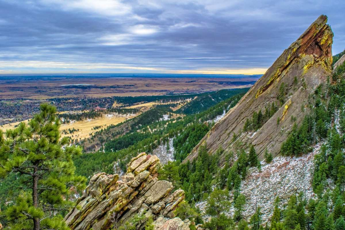 Flatirons in Boulder, Colorado