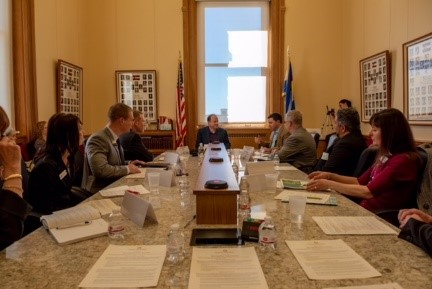 Northwest Chamber Alliance representatives raise concerns about regional transportation with Governor Jared Polis