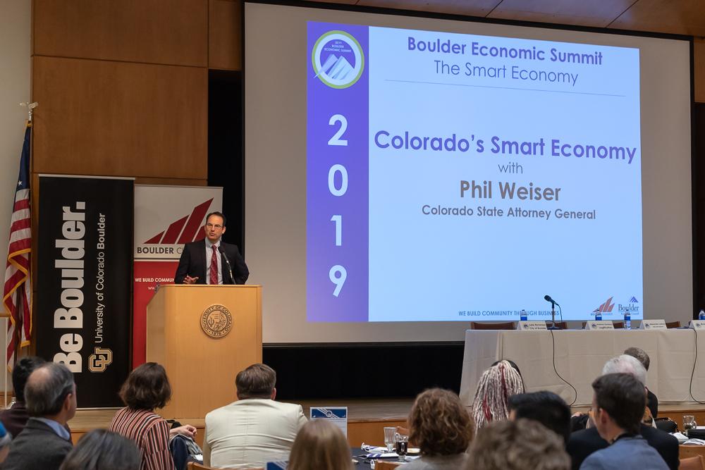 """Colorado Attorney General Phil Weiser presenting """"Colorado's Smart Economy"""""""