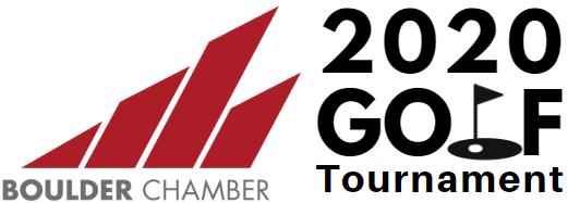 2020 boulder chamber golf tournament logo