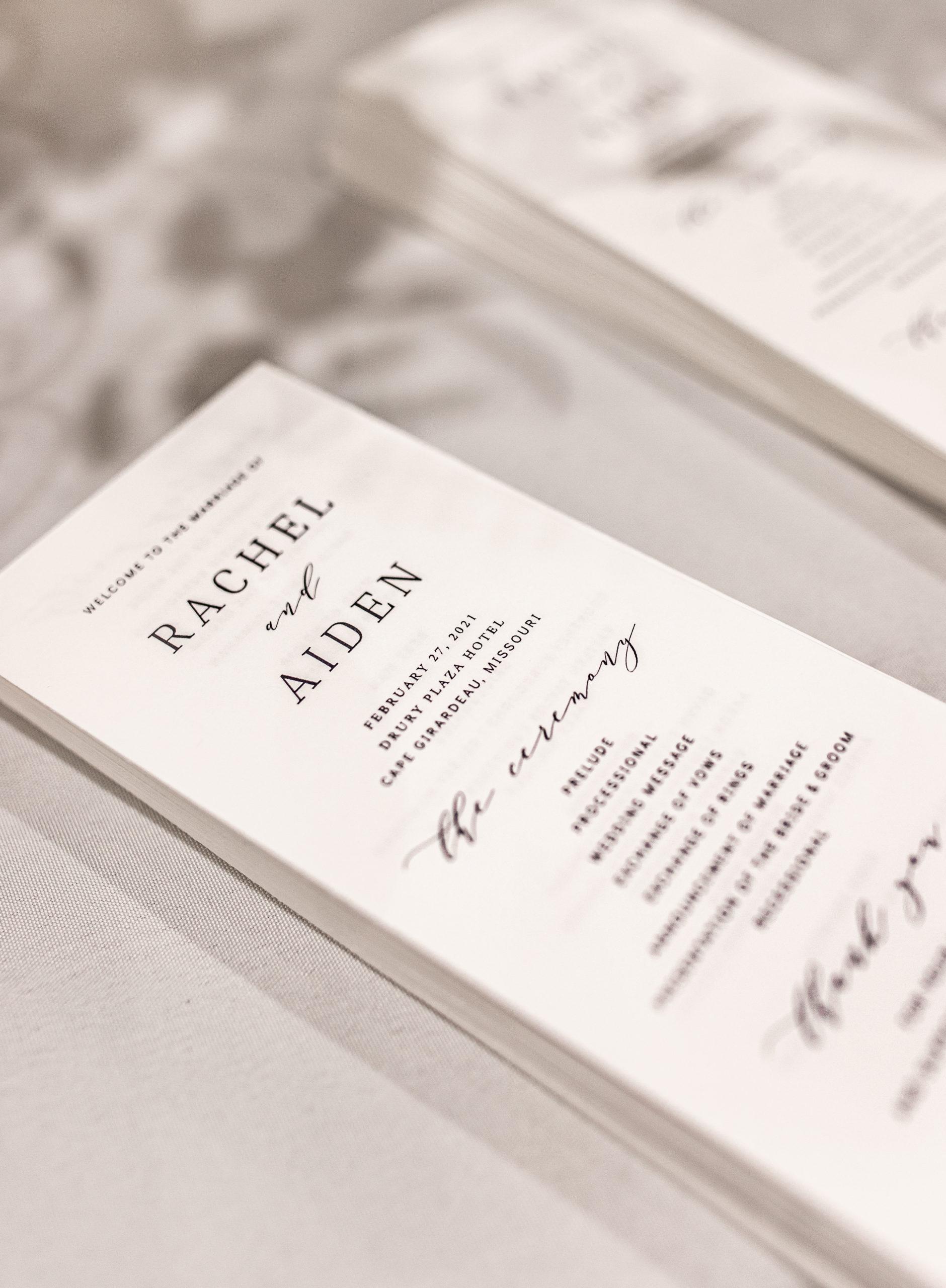 cape girardeau drury plaza hotel wedding program