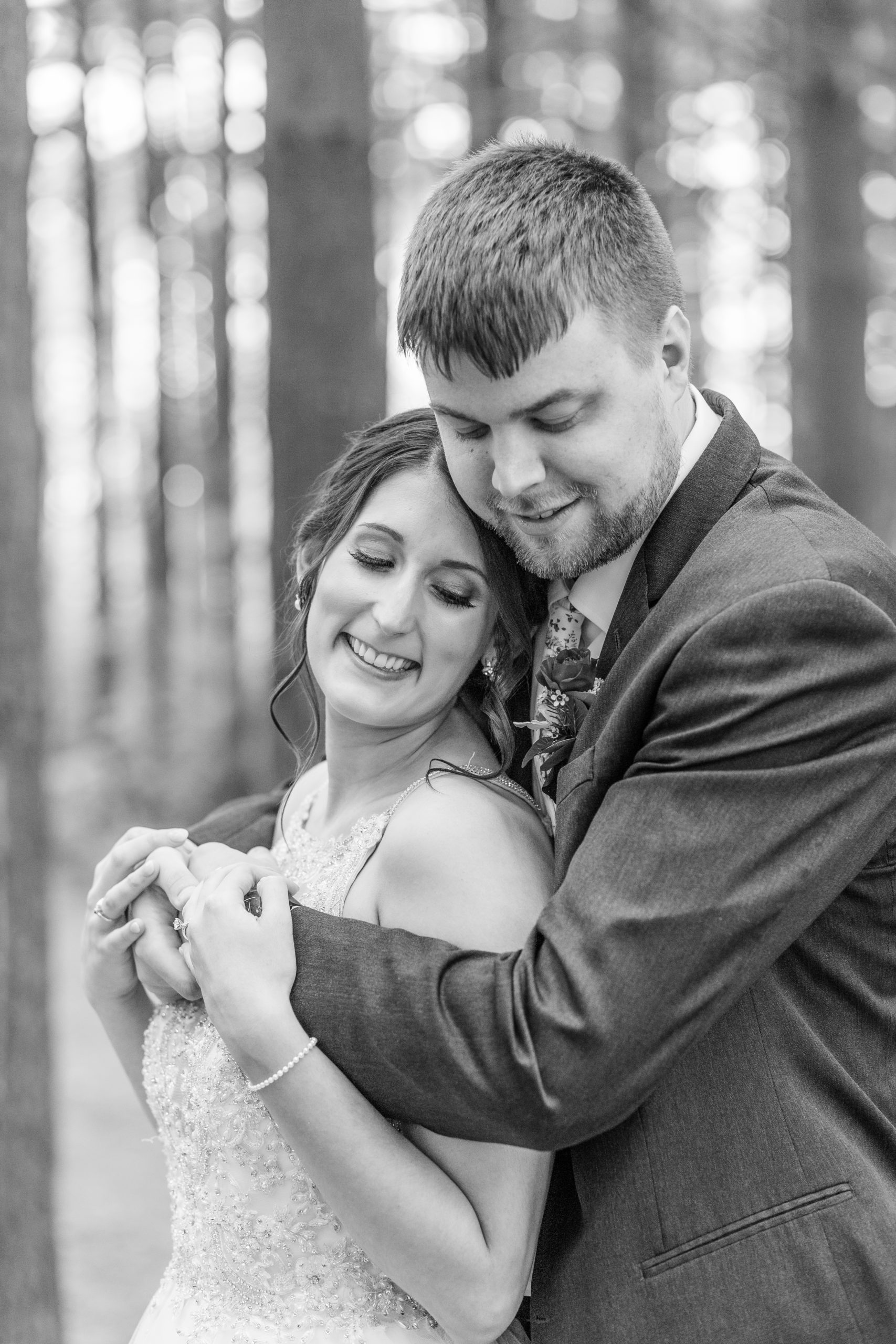 black and white, couple hugging,