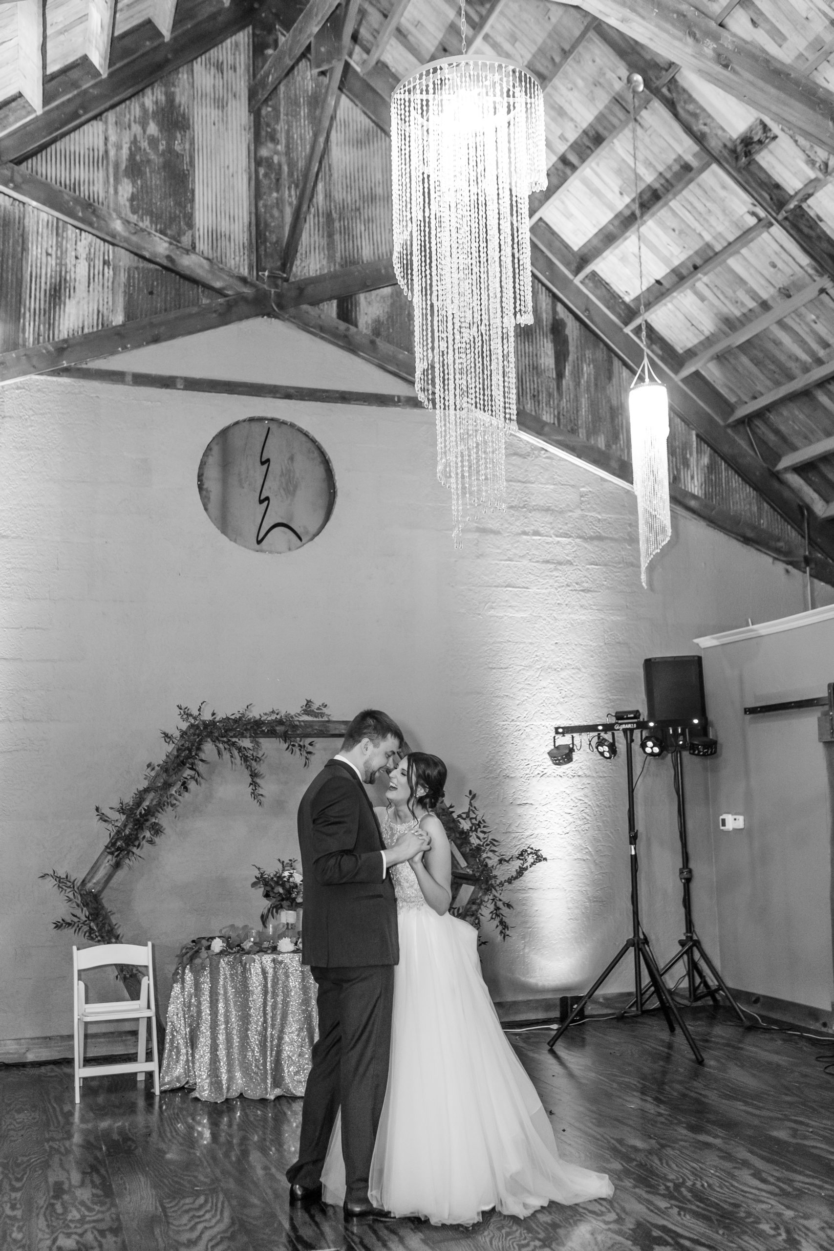 black and white, first dance,bride and groom, pine tree forestsouthern illinois photography