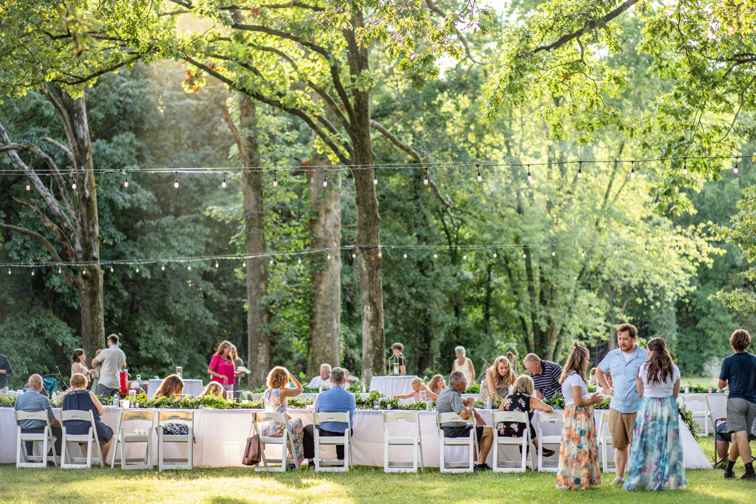 woodland wedding, summer romance wedding