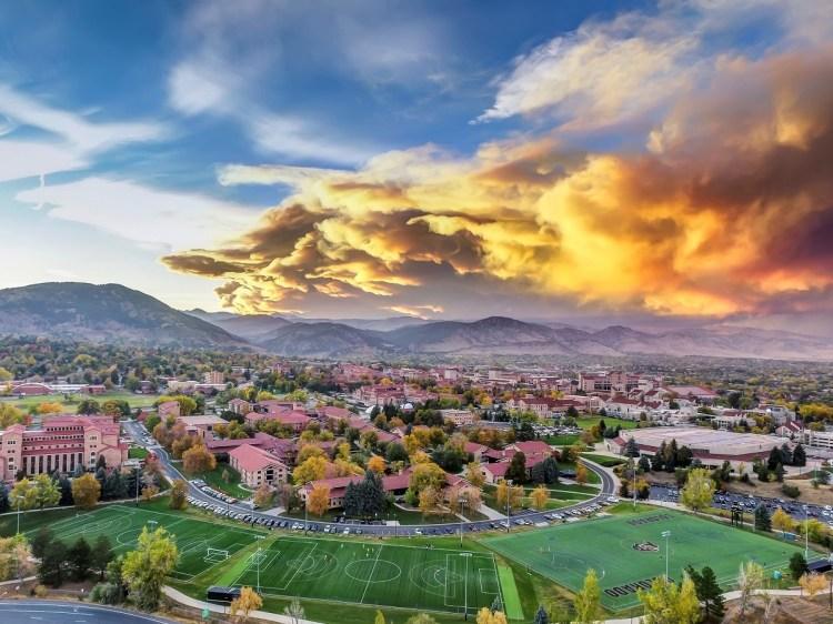 UC Boulder Campus Aerial Photo
