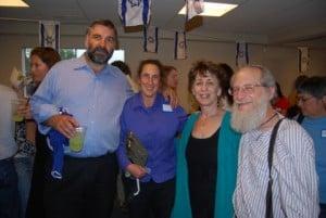 l-r: Rabbi Marc Soloway, Rabbi Deborah Bronstein, Rabbis Nadya and Victor Gross