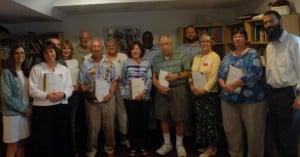 Rabbi Benjy Brackman - far right - poses with JLI's summer 2012 class