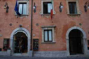 Building with Stars of David in former Jewish Quarter- Taormina