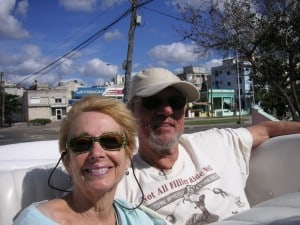 Joe and Judy Kutrz in vintage Chevy