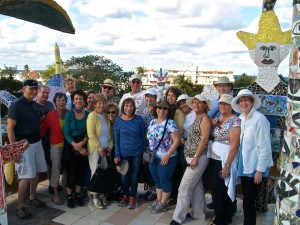 The group at Case de Fusters, a huge mosaic installation