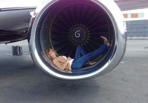Nancy Spielberg (in jet)
