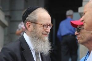 Rabbi Goldberg and Dr Neil Dubro