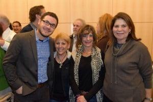 l-r: Boulder JCC Executive Director Jonathan Lev; Boulder Jewish News Executive Director Cheryl Fellows, sponsor of  the evening's film; Rhonda Wildman; Jackie Wong.