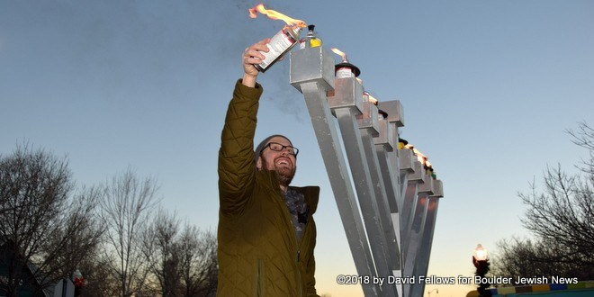 Dozens Watch Lafayette Menorah Lighting