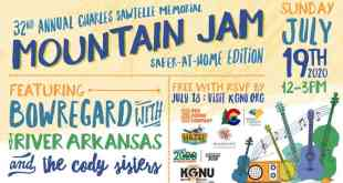 "KGNU Presents 32nd Annual Charles Sawtelle Memorial Mountain Jam, ""2020 Safer-at-Home"" Edition"