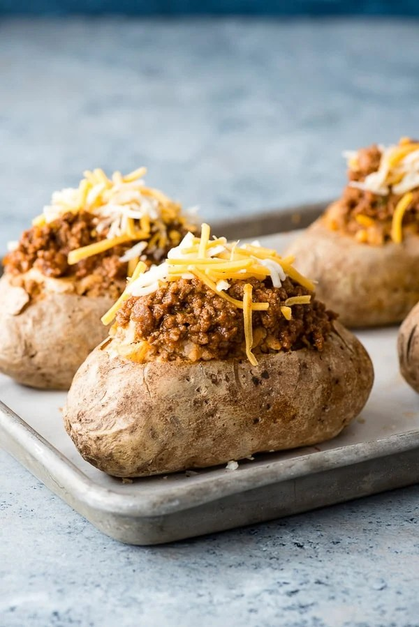 Taco-Stuffed Baked Potatoes | Boulder Locavore®
