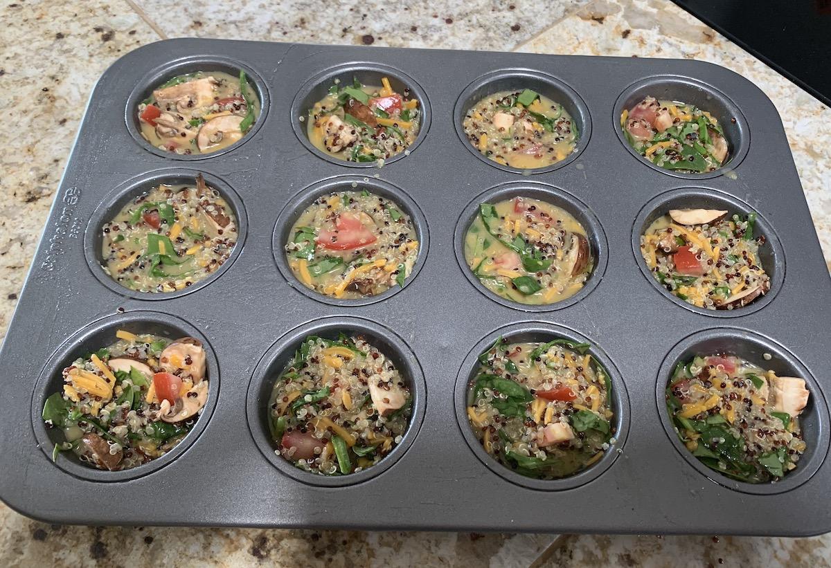 Quinoa Crust-less Quiche Tarts