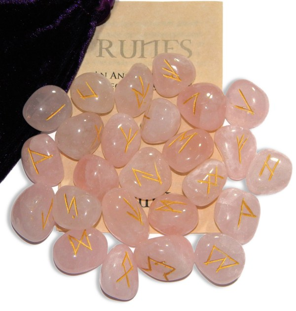 Rose Quartz Gemstone Runes