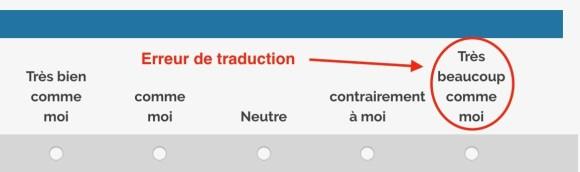 test force de caractère Via en français