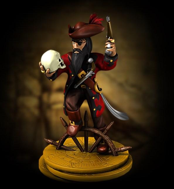 Échiquier pirate : le roi