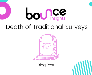 Bounce Insights Death of Traditional Surveys Blog Post Cover Image