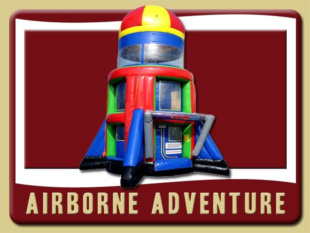 Airborne Adventure Rental Palm Coast Rocket green red blue