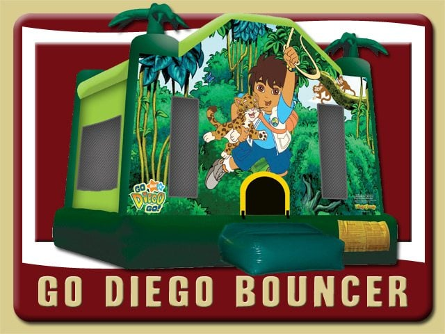 Go Diego Go Bounce House Moonwalk Party Rental Port Orange Jungle Green