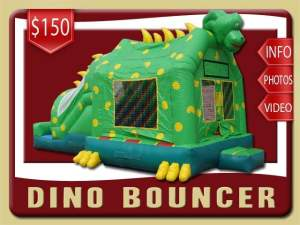 Dinosaurs Bounce House Slide inflatable Combo Green