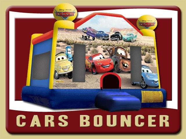 Disney Cars Jump Bounce House Rental Deltona Blue Red Yellow