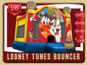 Looney Tunes Bounce House Rental, Bugs Bunny, Daffy Duck, Sylvester the Cat, Wile E. Coyote, Tasmanian Devil