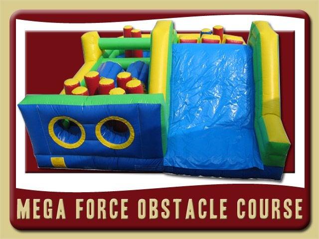 Mega Force Slide Obstacle Course Inflatable Rental Port Orange
