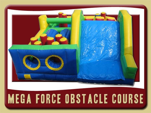 Mega Force Slide Obstacle Course Inflatable Rental Port Orange