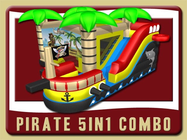 Pirate 5in1 Combo Bounce House Rental holly hill