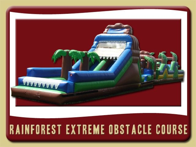 Rainforest Extreme Course Inflatable Rental Palm Coast