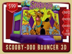 Scooby-Doo Bounce House Retnal, Purple, Scooby, Shaggy, Fred, Daphne, Velma