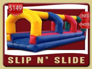 Slip and Slide Rental, Inflatable, Wet, Blue, Red, Yellow