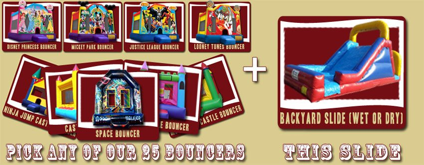water slide bounce house deal