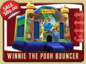 Winnie the Pooh Bounce House Rental, Tigger, Eeyore, Rabbit, Kanga Roo, Piglet