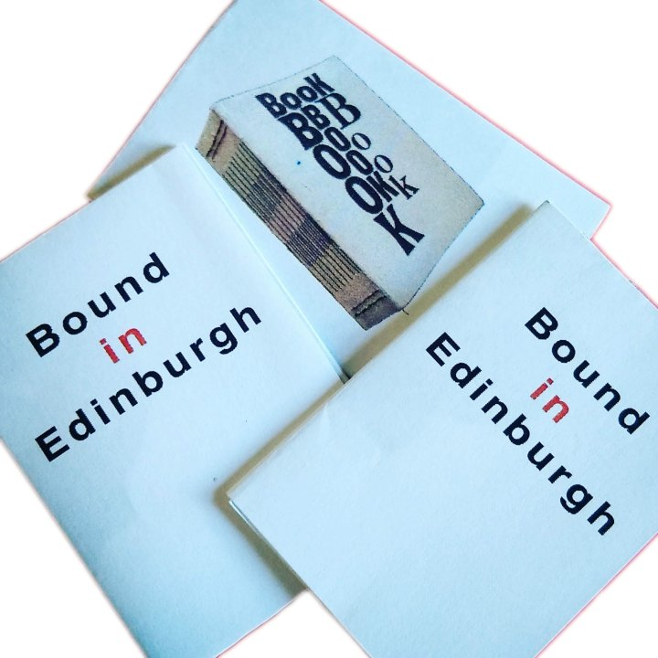 Bound In Edinburgh Mini Zine