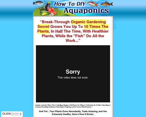 How To Diy Aquaponics ~ Brand New ~ Great Conversions!