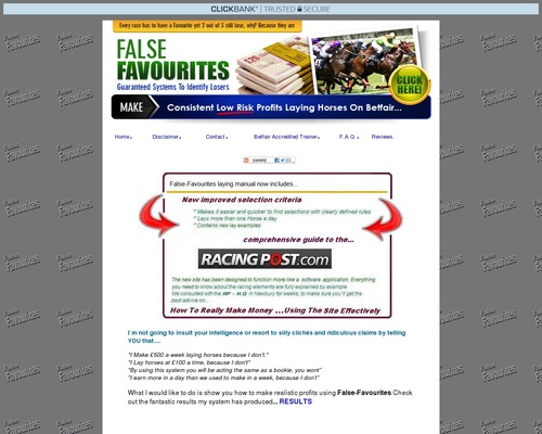 Horse racing system, betting systems, make money online, laying horses on betfair, proven laying system, lay betting, betfair, laying favourites, false favourites, online betting exchanges,betfair trading, punting on horses,racing tips, sports betting, weak favourites