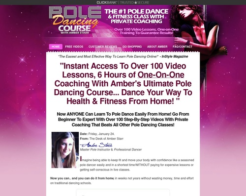 Pole Dancing Courses: *up To $32/sale **top Aff Makes $1650/day!