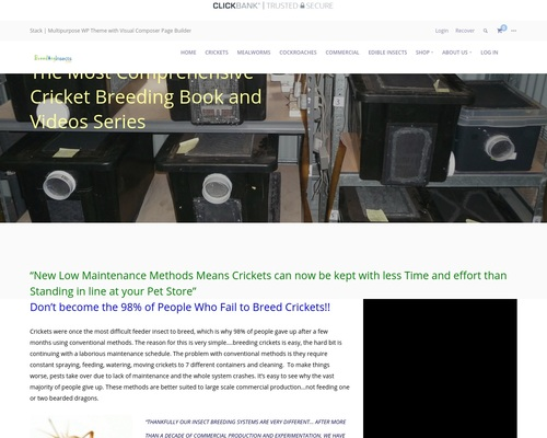 The Complete Cricket Breeding Manual-Clickbank – Breeding Insects Made Easy