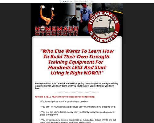 Homemade Strength | Homemade Equipment | Build Your Own Training Equipment | Make Your Own Strength Training Equipment for Less Money