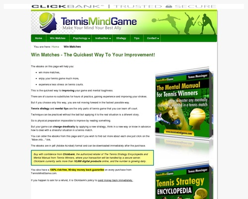 Win More Matches With Ebooks From TennisMindGame.com