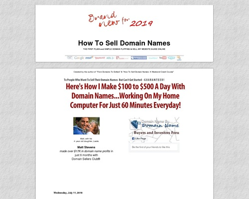 How I Sell My Domain Names.